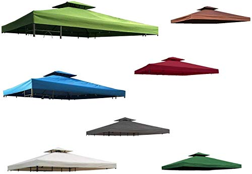 habeig Ersatzdach 340g/m² Dach EXTRA STARK PVC Beschichtung Pavillondach 100% Wasserdicht Pavillon 2,98x2,98m (knapp 3x3m) NEU (Waldgrün)