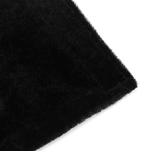 Gedourain Cómodas Fundas para manijas de Nevera 2PCS para electrodomésticos(Black)