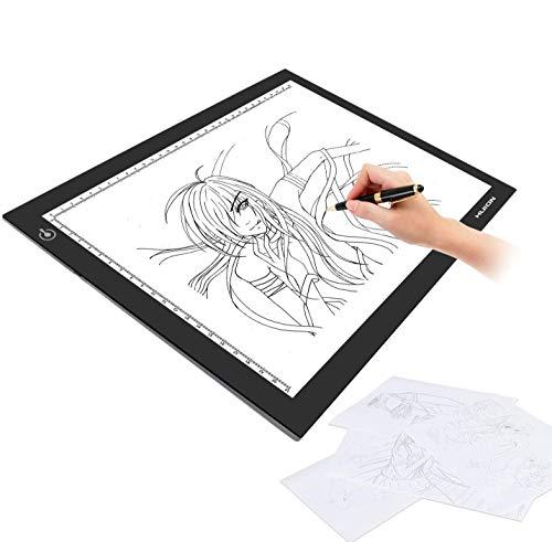Huion L4S caja de luz 17.7 pulgadas USB Powered luz Tracing Pad Dibujo Junta de luz mesa de luz con metal clip de papel