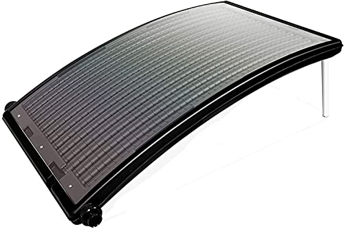 MaxxToys - Calentador de piscina solar curvo para piscina, accesorios para piscina, spa, jardín, sistema de calefacción ligero para estanque, fuera del suelo, calentador, piscina solar 75 x 52 cm