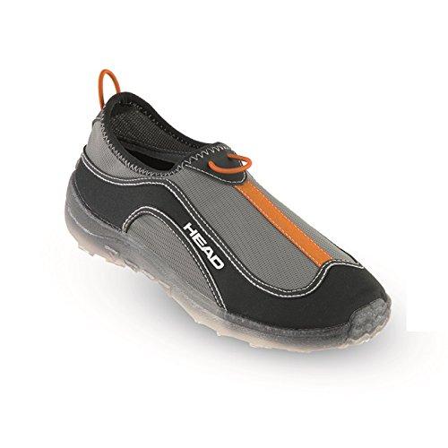 HEAD Herren Aquashoes Aquatrainer Flipflop, Schwarz Orange Bkor, 40 EU