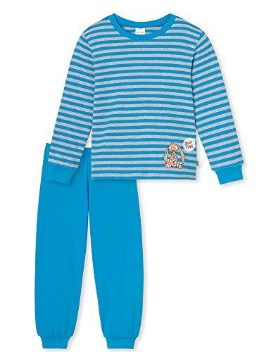 Schiesser Jungen Schlafanzug lang 154394, blau, 92