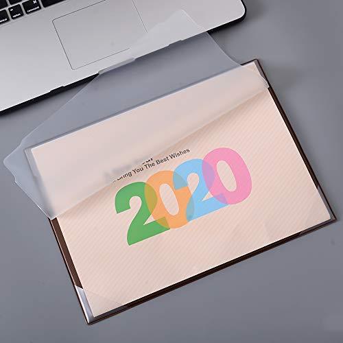 2020 Desktop Kalender Maandelijkse Planner Office Bureau Kalender Mat Eenvoudige Bureau Pad Kalender Eenvoudige Opmerkingen-Koffie