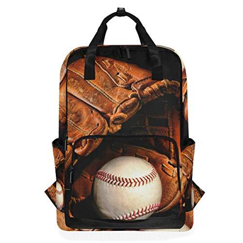 Vintage Baseball Handschuh Softball Sport Rucksack Schulreise Daypack Laptop College Bookbag 14 Zoll Arzt Tasche