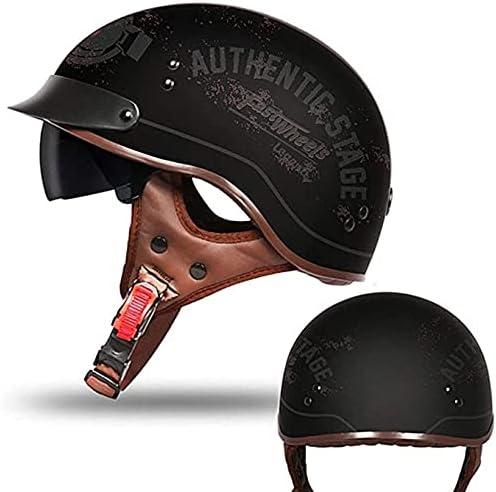 WANGFENG Unisex-Adult Open Face Retro 2021new shipping free Women Cruiser Men Quantity limited Helmets
