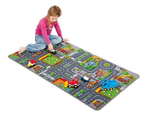 Unbekannt Straßen-Spielteppich / strapazierfähige Schlingenware, Rand gekettelt / Material: 100% Polyamid / Teppichmaß: 150 x 80 cm / Gewicht: 1,88 kg