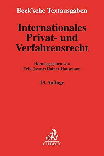 Internationales Privat- und Verfahrensrecht: Rechtsstand: 1. September 2018
