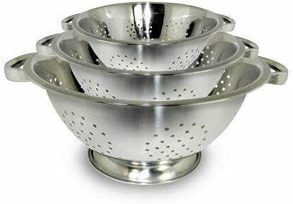 Brand Fashion New 3 Pc Set Colander Sturdy w Sales for sale Stainless set Steel Base