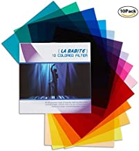 La Babite 11 x 8.7-Inches Pack of 10 Colored Overlays Transparency Color Film Plastic..