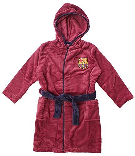 Albornoz oficial de Barcelona FCB con capucha polar para niños, azul, 3-4 años