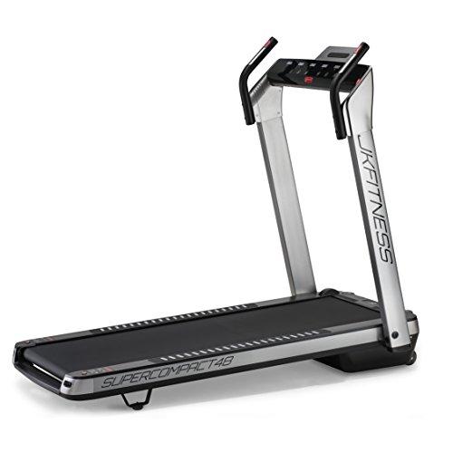 JK Fitness SUPERCOMPACT48, Tapis roulant, Unisex - Adulto, Argento, 145 x 75 x 123 cm Aperto - 74 x 26 x 145 cm Chiuso