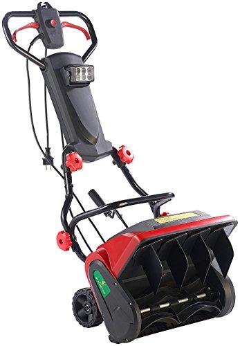 AGT Handschneefräse: Elektrische Schneefräse mit LED-Beleuchtung SB-213.e, 1.300 W (Schneeräumer)