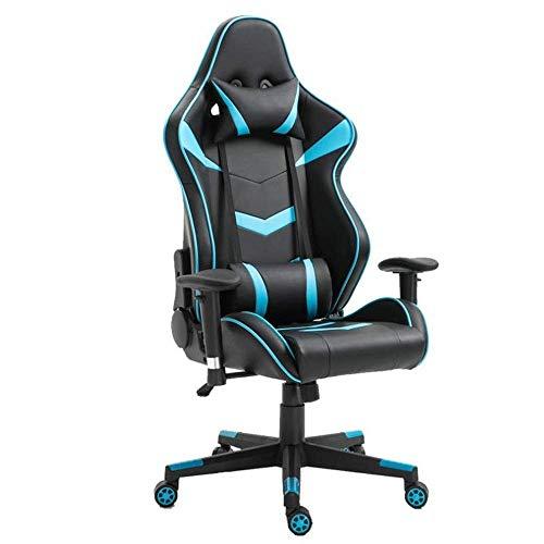 Tägliche Ausrüstung Gaming Chair Gaming Chair Office Gaming Chair Ergonomischer Computerstuhl mit hoher Rückenlehne Höhenverstellbare Videospielstühle (Farbe: Blau Größe: Freie Größe)