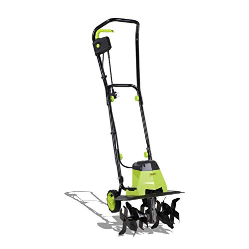 Photo of 1500W Electric Garden Tiller – Garden Soil Cultivator/Rotavator with 6 Metal Blades/ 40cm Cutting Width, Safety Switch for Lawn, Vegetable Patch & Allotment-10m Power Cable