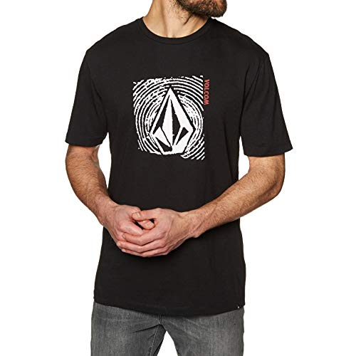 Volcom Stonar Waves DD Short Sleeve T-Shirt Small Black