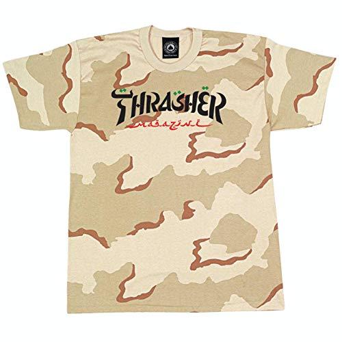 THRASHER T-Shirt Maniche Corte Uomo Calligraphy Tee Desert Camo L