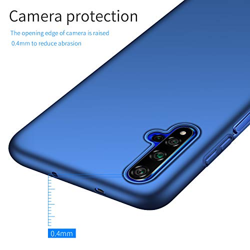 Kqimi Case for Huawei Honor 20/Nova 5T/Honor 20S Ultrathin Lightweight Matte Phone Case Simple Shockproof Scratchproof Full Body Case Compatible with Huawei Honor 20/Nova 5T/Honor 20S (2019) 6.26'Blau - 5