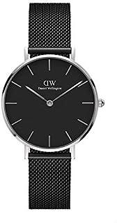 Daniel Wellington DW00600202 Mesh Stainless Steel Black-Dial Round Analog Unisex Watch - Black