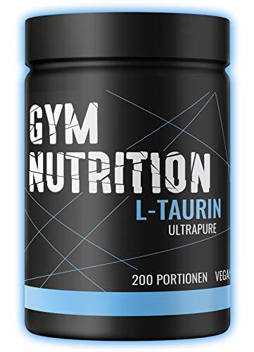 Premium Taurin Pulver - 500 g - Optimale Löslichkeit - Vegan - Rein & ohne Zusätze - Laborgeprüfte Qualität - L-Taurin Aminosäure aus Deutschland - Gym Nutrition