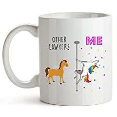 FUNNY GIFTS - These mugs make great gift! VIVID, HIGHLY READABLE TEXT - Other Lawyers, ME HIGH QUALITY - These high quality, dishwasher and microwave safe mugs are made to last for years to come.