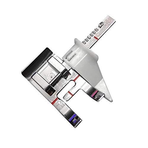 Prensatelas para máquina de coser ajustable con cremallera, duradero, se adapta a todos los vástagos bajos, plata qingsb
