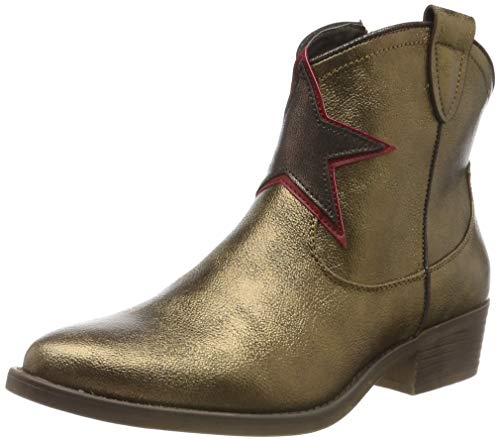 s.Oliver Damen 5-5-25337-23 Stiefeletten, Gold (Gold/Red Comb 953), 39