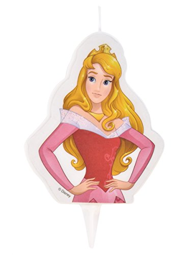 Generique - Vela de cumpleaños Princesas Disney Aurora 6 x 7.3 cm