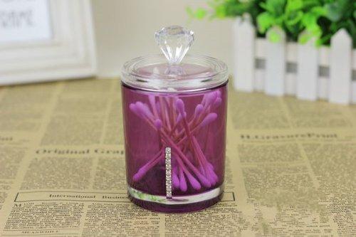 Easybuystore ® Cotton Swab Box & Toothpick Dispenser in Acrylic (Purple)
