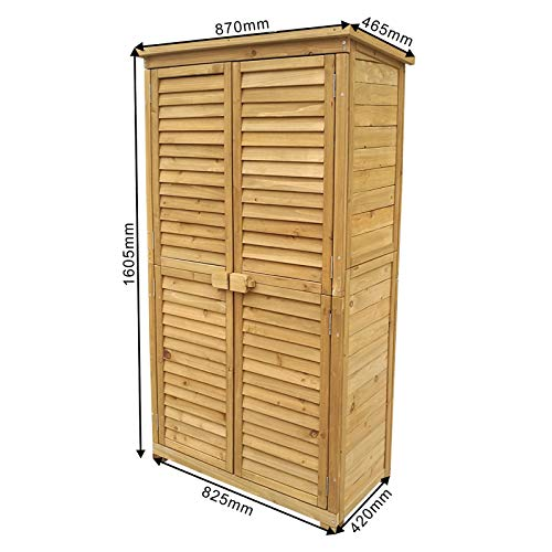 1 Exquisite Wooden Garden Storage Cabinet With Shelves Astonshedsuk