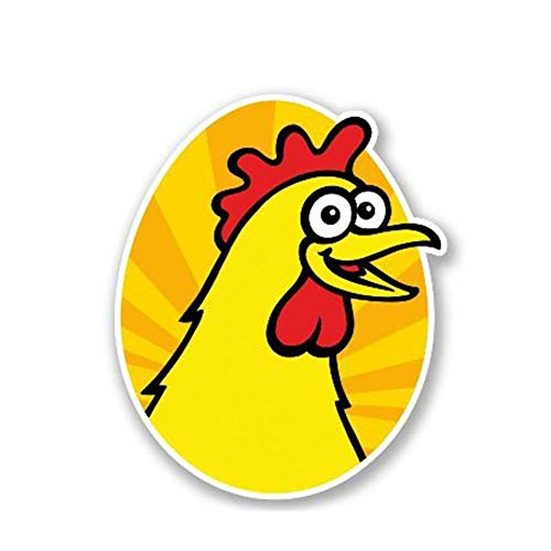 AUPRE Car Sticker 13Cm X 8Cm Car Sticker Screaming Chicken Decal Funny Car Styling Cartoon Animal Vinyl Graphic Waterproof Assessoires