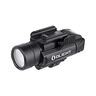OLIGHT Baldr IR 1350 Lumens Tactical Weaponlight with IR Beam, 260 Meters Beam Distance Compatible with 1913 or GL Rail, Powered by 2 x CR123A Batteries