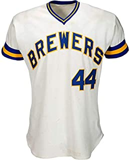 3146d1073 Hank Aaron Game Used Worn 1976 Milwaukee Brewers Jersey HR 755 Brewers LOA  - MLB