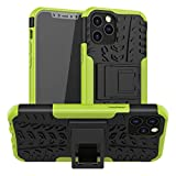 Shockproof Designed for iPhone 12 Case/Designed for iPhone 12 Pro Case with Kickstand Dual Layer Protection Military Grade Drop Tested Armor Phone Case 6.1 inch (2020) (Green)
