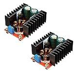 HiLetgo 2pcs 150W 6A Adjustable DC Boost Converter Step Up 10-32V to 12-35V Voltage Charger Module Power Supply InvertersConverter