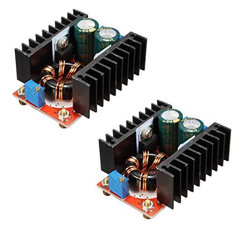 HiLetgo 2 unità 150 W 6 A Adjustable DC Boost Converter Step Up 10-32 V to 12-35 V Voltage Charger Module Power Supply Inverter