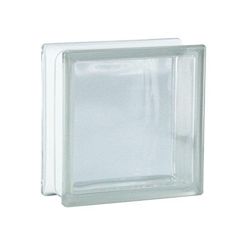 6 pieza BM bloques de vidrio vista completa SUPER white bloque de vidrio brillante 19x9x8 cm