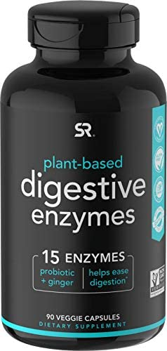 Digestive Enzymes with Probiotics and Ginger Plant Based Supplement for Dairy Protein Sugar product image