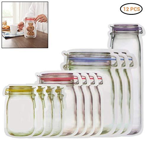 Hihey Einmachglas Set Wiederverwendbare Luftdichte Dichtung Lebensmittel Aufbewahrungsbeutel Marmeladengläser, Vorratsgläser, Wurstgläser, Einweckgläser