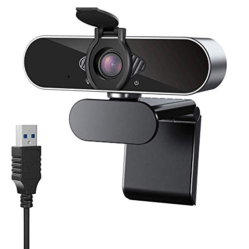 CASE U HW1 1080P Webcam with Microphone and Privacy Cover; 360° Rotation Plug and Play Pro Streaming USB 2.0 HD for Video Calling/Conferencing; Online Teaching or Gaming