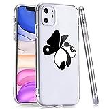 LuGeKe Cute Panda Print Phone Case for iPhone11,Cartoon Animal Patterned Case Cover,Soft TPU Cover Flexible Ultra Slim Anti-Stratch Bumper Protective Girls Phonecase(Panda Frying)