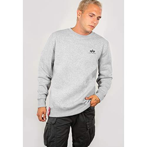 Alpha Industries Basic Sweater Logo Herren 188307 Grey Heather XS