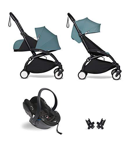 Babyzen YOYO² buggy KOMPLETTES SET 0+ und 6+ aqua Gestell schwarz mit YOYO² BeSafe iZi Go Modular i-Size Autositz schwarz