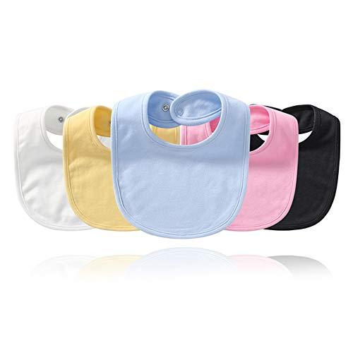 babero bebe,cojín antivuelco bebe,alimentación,bibs,5 uds. Toalla de saliva para bebé, babero de color sólido para bebé recién nacido, bolsa de arroz, babero de algodón absorbente, babero para niños