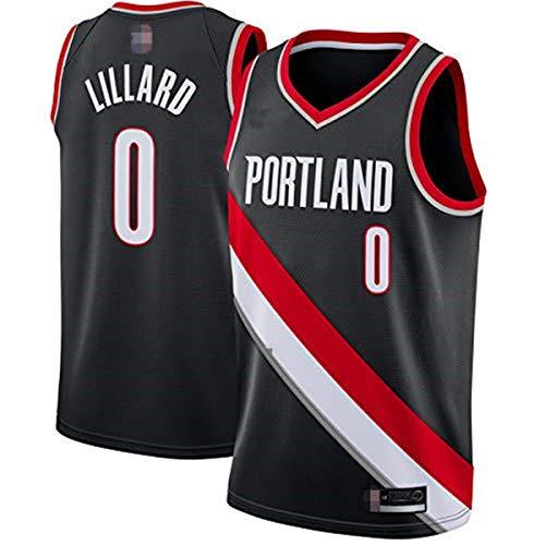 King-mely Herren-Basketballtrikots - NBA Portland Trail Blazers #0 Damian Lillard Swingman Edition-Trikot, Bestickt, Sportbekleidung, Ärmelloses Unisex-T-Shirt