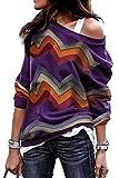 Sudadera Sin Hombros Mujer Bohemia Hippie Chic Camisa Estampado Etnico Jersey Geometrico Sweatshirt Hip Hip Swag...