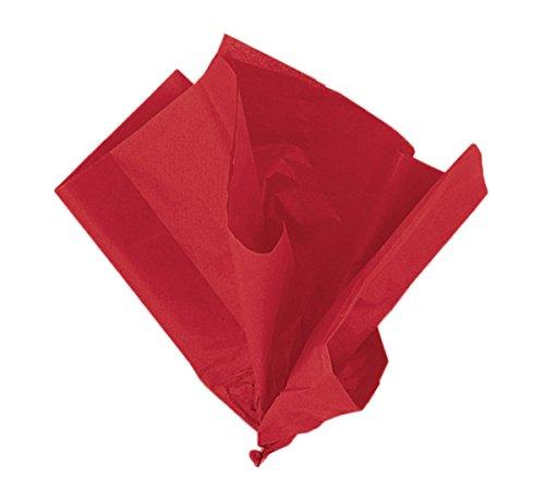 Unique Party- Paquete de 10 hojas de papel de seda, Color rojo, 6286)