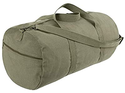 Rothco Canvas Shoulder Duffle Bag - 24 Inch, Olive Drab