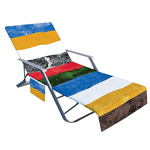 Yusheng Funda para Silla De Playa Toalla De Playa De Microfibra para Tumbonas con Bolsillos | Sillón Antideslizante Toalla De Playa para Piscina, Tumbona, Hotel, Vacaciones 210x75 Cm (sin Silla)