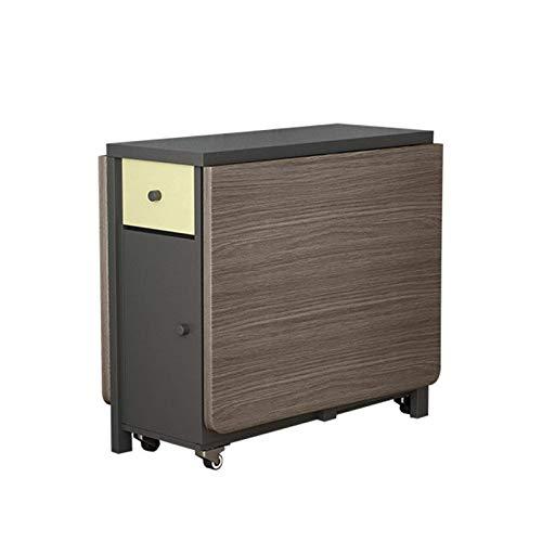 AOIWE Juego de mesa de comedor plegable de 1,6 m y 6 sillas de madera maciza, muebles de cocina de madera maciza, pequeño apartamento, mesa de comedor (color: mesa)