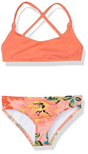 Billabong Girls' Beach Bliss Knot Tali Two Piece Swim Set, Multi, 7